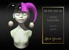 Dark Secrets - The Little Crazy One Hat - Black & Purple