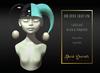 Dark Secrets - The Little Crazy One Hat - Black & Turquoise