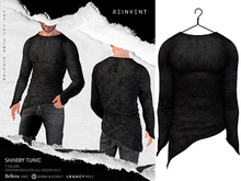 REINVENT I Shabby Tunic I Black [Belleza Jake, Signature Gianni & Geralt, Legacy (male)]