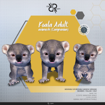 [Rezz Room] Box Koala Adult Animesh (Companion)