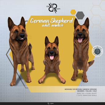 [Rezz Room] Box German Shepherd Adult Animesh  (companion)