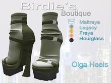 Birdie's Boutique - Olga Heels - Green