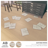 Atelier Burgundy . Scattered Papers