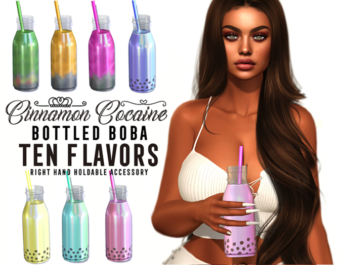 [Cinnamon Cocaine] Boba Bottle Pack