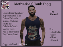 Mens MOT3 Tank Top (ADD ME)