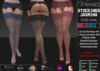 VANNIES Stockings w. Garterb. Jasmina Dark (Applier HUD + BoM) Belleza, Legacy, Maitreya, Slink, Omega + Classic Ava.
