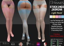 VANNIES Stockings w. Garterb. Jasmina Light (Applier HUD + BoM) Belleza, Legacy, Maitreya, Slink, Omega + Classic Ava.