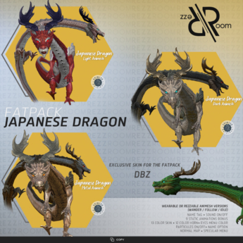 [Rezz Room] Box Japanese Dragon Animesh FATPACK