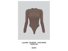 JACOBS - Laura Sheer Leotard . Mocha