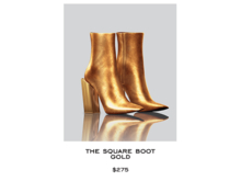 JACOBS - Square Boot . Gold (Robbery Collection)