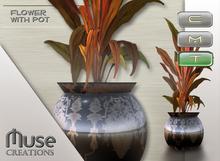 .::Muse Creations::. Asian flowerpot (plant + pot)