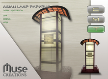 .::Muse Creations::. Asian lamp: papyrus