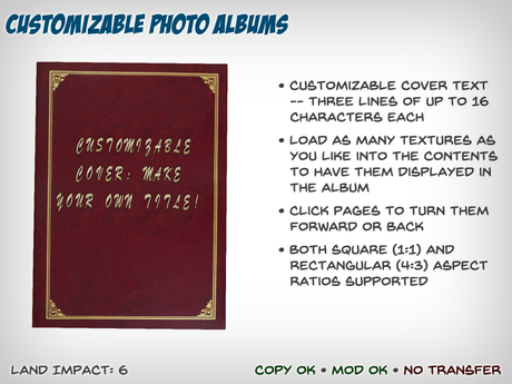 Customizable Photo Album