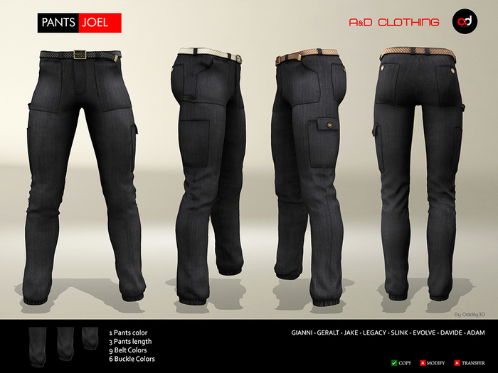 A&D Clothing - Pants -Joel- Ebony