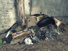 Trash Pile 2 - Mesh - 1 prim each