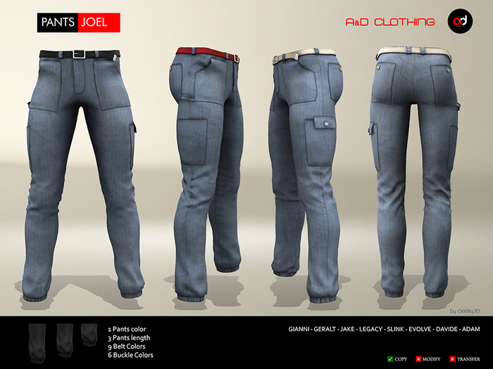 A&D Clothing - Pants -Joel- Blue