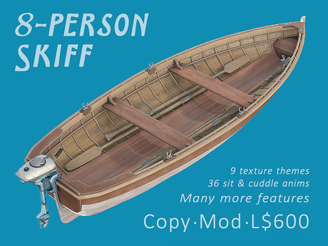 Skiff - Small Drivable 8-Person Boat