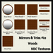 NDC Textures: Mirrors & Trim #1e - Woods