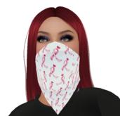 MSACS RIbbon Heart Dot Bandana Mask