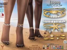 **RE** Luana Anklets & Toe Rings - High & Flat - Maitreya - SLink Dynamic - Belleza - Alice - Legacy