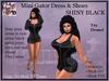 Mini Gator Dress & Shoes BLACK SHINY