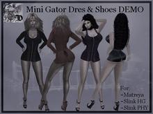Mini Gator Dress & Shoes DEMO