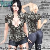 ~*MF*~ Ladies Gothic Hawaiian Shirt - Dark Brown