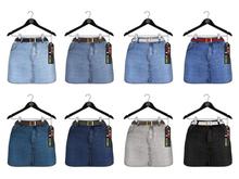 Baetik : Kai Denim Skirt w/ Belt : Fatpack