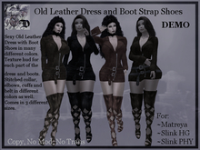 Old Leather Dress and Boot Strap Shoes DEMO