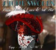 Pirate Veil & Mask Tricorn Stone's Works