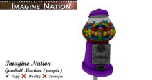 Gumball Machine (purple)-touch for bubble gum