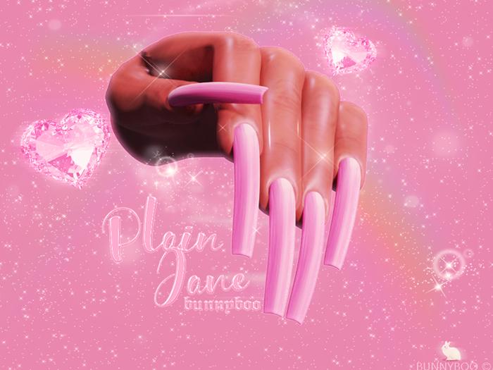 #*.Bunnyboo.* plain jane nails PINK