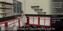 Eclectica Curiosities- Mid Century Kitchen Sink Set in red