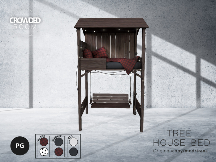 Crowded Room - Tree House Bed - PG - Brown