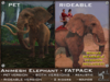 FaceDesk - Animesh Elephant FATPACK - Pet, Rideable, Wearable all 3 included!