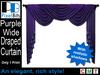 Regal Wide Draped Curtain - Purple