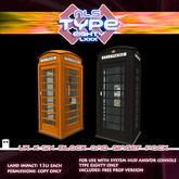 TARDIS T-80 Exterior - Phone Box Pack - Black / Ginger