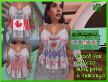 <SB> Celebrate Canada Simple tank for women (Gift)