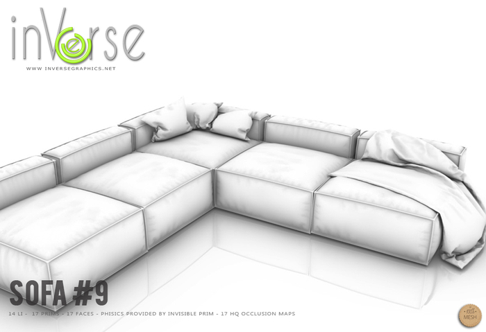 inVerse MESH - Sofa #9  full permission