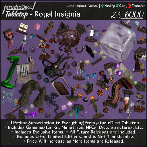 /studioDire/ Tabletop - Royal Insignia (Includes ALL Tabletop Items*)