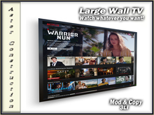 Web Enabled Large Wall TV - Black