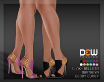 """DEW"" Tia  Heels /MAITREYA/SLINK/BELLEZA/EBODY CURVY"