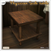 [V/W] Physician Side table - Service table for Medieval or vintage infirmary - Mesh furniture