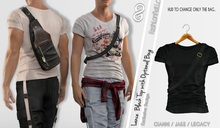 LANCE TOP MALE WITH BAG BLACK COLOR - MESH - GIANNI - BELLEZA JAKE - LEGACY - FashionNatic