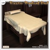 [V/W] Rustic Medical Bed - Makeshift infirmary bed, medieval fantasy or vintage - Mesh furniture