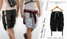 LANCE MALE BLACK COLOR SHORTS, MESH - SIGNATURE GIANNI, LEGACY, BELLEZA JAKE - FashionNatic