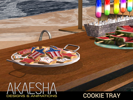Bento Cookie Tray (touch for treat) 4th of July Celebration