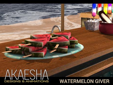 [Akaesha] Watermelon Tray (touch for treat)