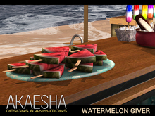 [Akaesha] Watermelon Tray (touch for treat)