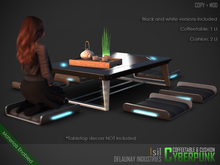 ~isil~ Cyberpunk Japanese Coffee Table & Cushion Set